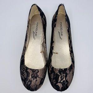 Madeline Stuart Huntley Lace Print Metallic Shoes